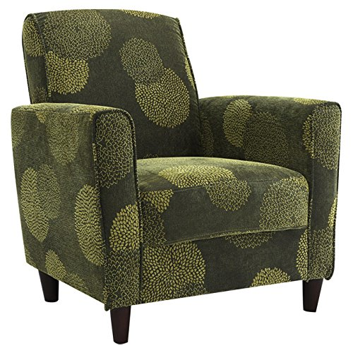 - DHI Enzo Sunflower Contemporary Style Accent Arm Chair (Green)