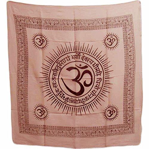 Om Gayatri Mantra Cotton Altar Puja Cloth Scarf (40