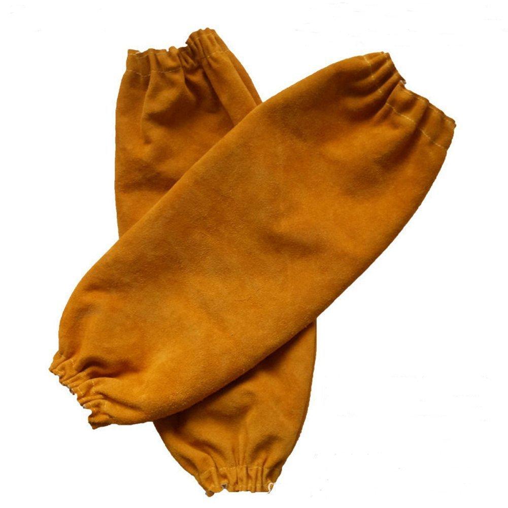 QEES DHST06 - Mangas de soldadura resistentes al calor, pesadas, 40,6 cm, elásticas, para soldar, ropa de seguridad, trabajo resistente a los chispas, ...