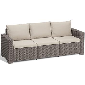 Gut bekannt Allibert Lounge Sofa California 3-Sitzer, cappuccino/panama sand ZU58