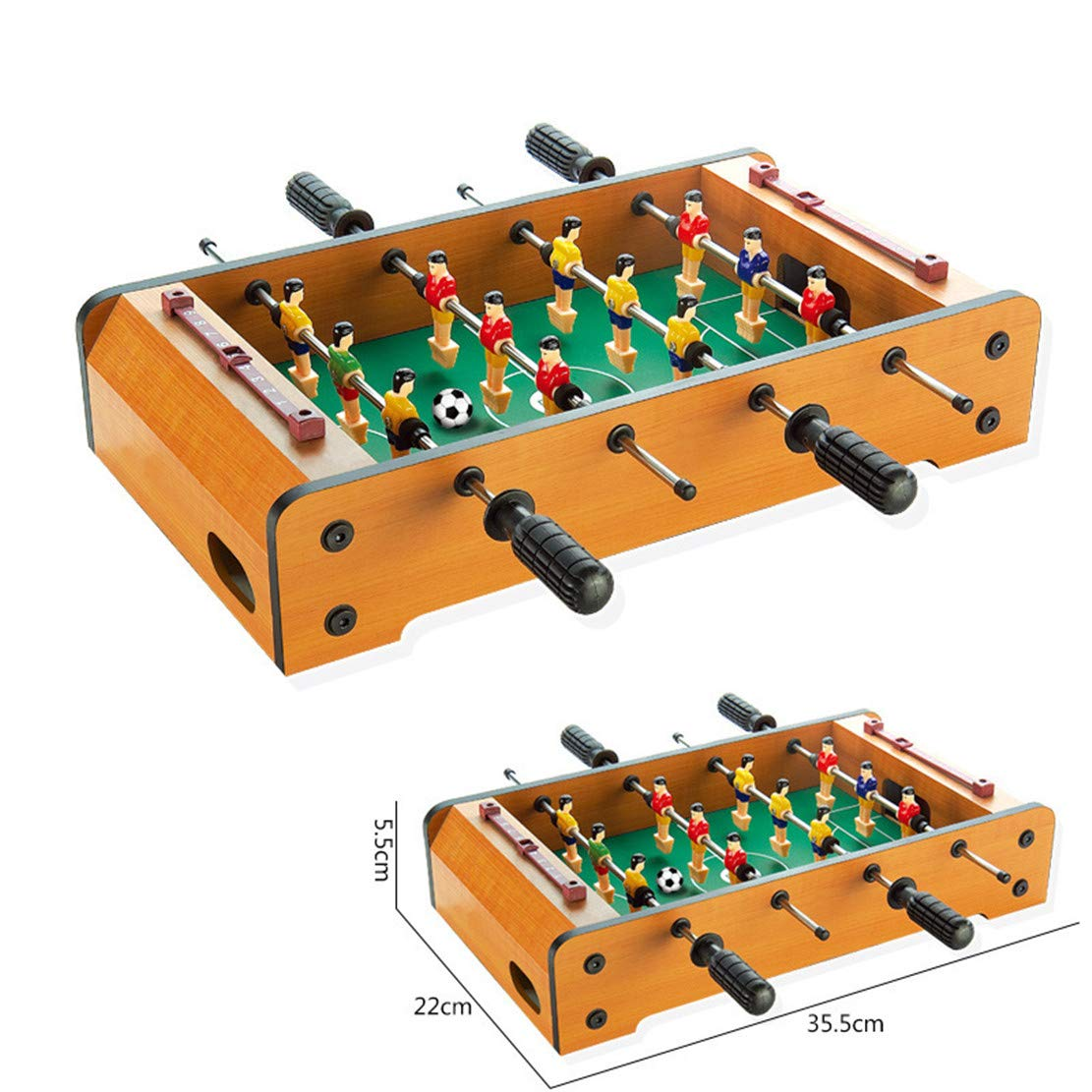 MSTQ Large Football Table Wooden Indoor Soccer Table 6 Football Table Double Battle Desktop Board Game Children Sports Toys 9 Models (6086, L) by MSTQ