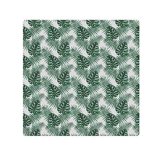 - C COABALLA Leaf Comfortable Doormat,Palm Mango Banana Tree Leaves in Tropical Wild Safari Island Jungle Image Artwork Decorative for Home Office,47.2