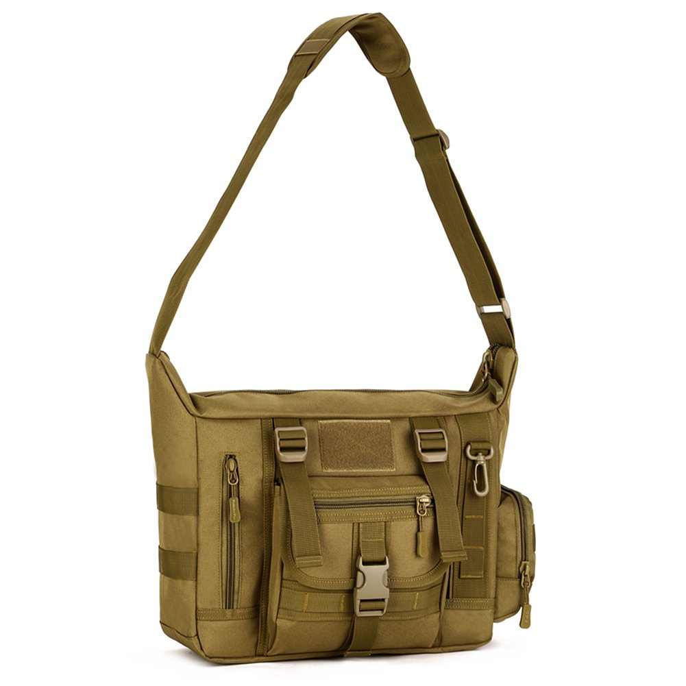 Protector Plus Tactical Schultertasche Milit/är Crossbody Bag Sling Tasche Rucksack Wasserdichte Umh/ängetasche Mehrfunktional Messengerbag Aktentasche Daybag mit Verstellbar Schultergurt f/ür Trekking Wandern