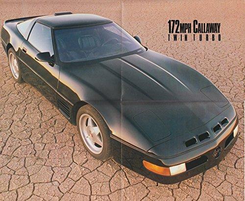 - 1990 CHEVROLET CORVETTE CALLAWAY TWIN TURBO COLOR POSTER - SCI 4-90 - USA - FABULOUS !!