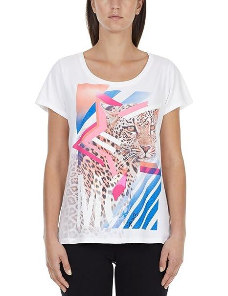 Cain white Sports Marc Para 42 T Mujer 100 Camiseta Shirt 6dWPWq
