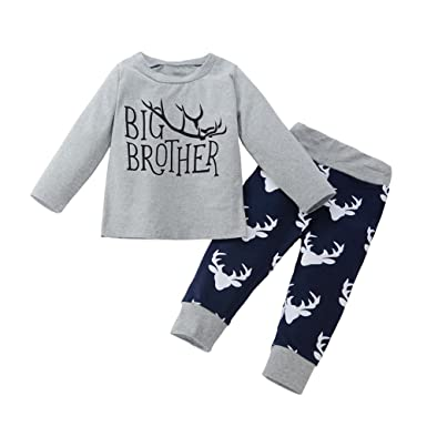 a9cfff7e1 Little Finger Christmas Reindeer Antlers Kids Boy Clothes Set ...