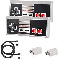 Laelr 2.4G Wireless Controller 2 Pack NES Mini Gamepad Controllers Oplaadbare Nintendo Switch Controller voor NES / SNES…