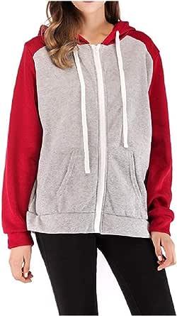 DressUWomen Hechizo color zip - hasta terciopelo más activo frente abierto sudadera con capucha para Mujers