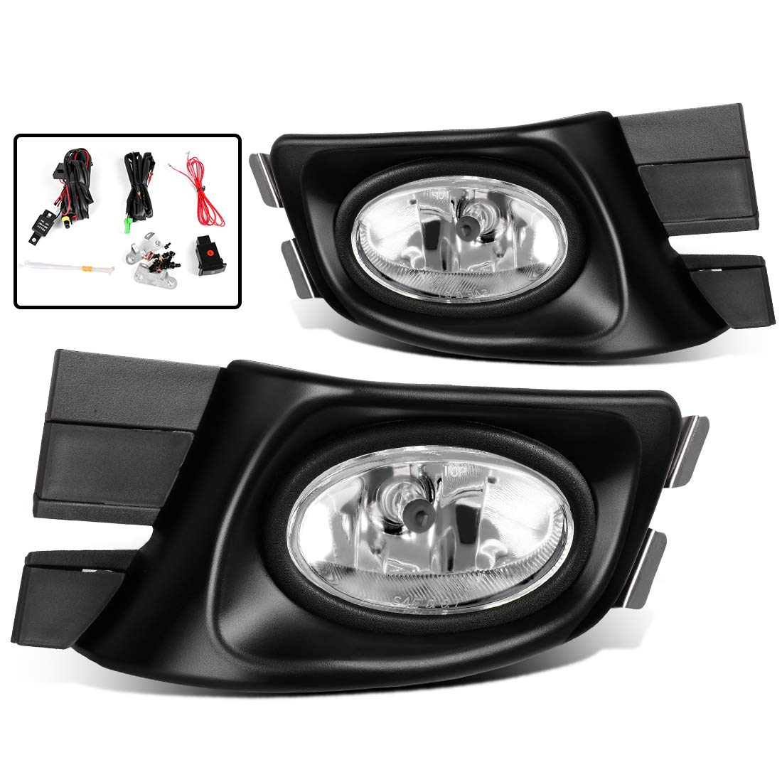 Fog Lights For Honda Accord 2003 2004 2005 Real Glass Clear Lens Wire Harness With Bulbs Wiring