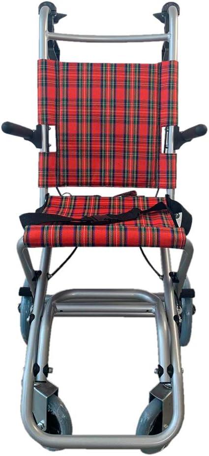 Mobiclinic, Modelo Neptuno, Silla de ruedas ortopédica, de tránsito, para minuválidos, plegable, aluminio, freno en manetas, reposapiés plegables, reposabrazos abatibles, asiento, ultraligera, rojo