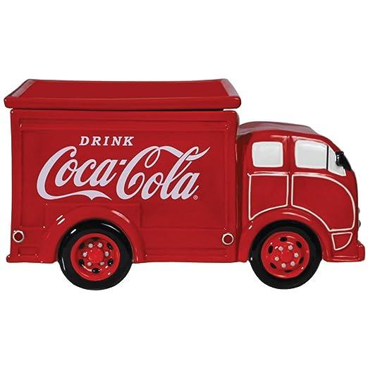 Brillante rojo Coca-Cola - entrega camión de cerámica tarro para ...