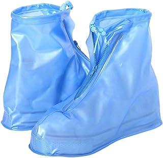 Wanfor réutilisables Chaussures de Pluie Unisexe antidérapant Bottes de Protection étanche Housse Surchaussures