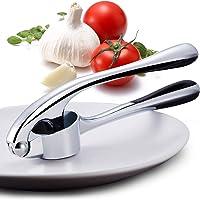 FyoFya Prensa de ajos de acero inoxidable, Cocina Mincer Ajo Peeler Ginger Jengibre Press cortador de ajos apto para…