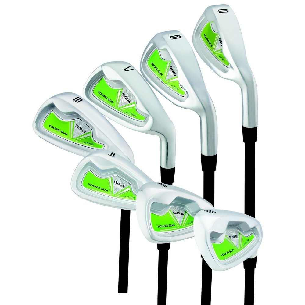Young Gun SGS V3 6 Iron Golf Right Hand Irons/Wedges Ages: 12-14 Green by Young Gun