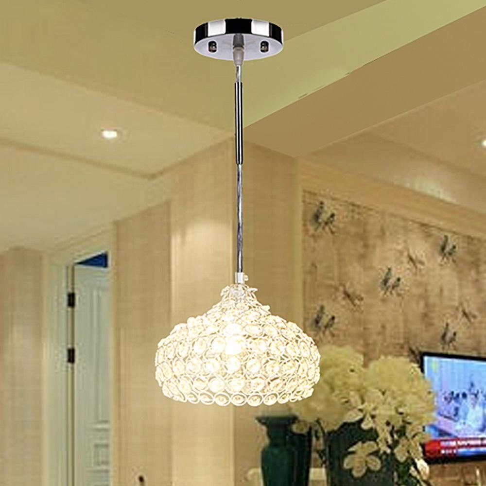 (US STOCK)Keland Modern Crystal Chandelier Crystal Pendant Lights,Contemporary Chandeliers Wine Cup Shape Pendant Chandelier for dining room, bedroom,Living Room
