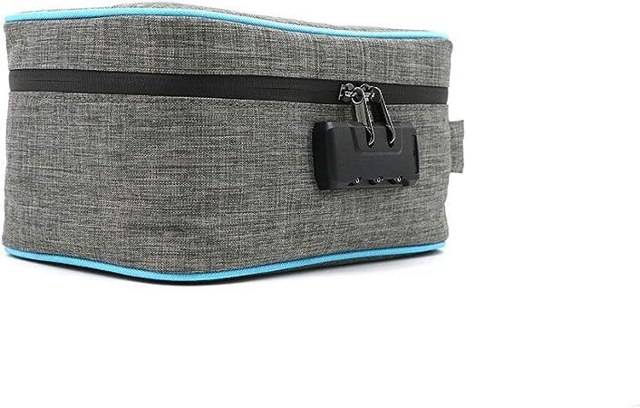 Stashic Rolling Box sac anti-odeur bo/îtier verrouillable bo/îtier de protection doublure en charbon actif absorbant les odeurs pour stocker discr/ètement tous vos accessoires de fumeurs