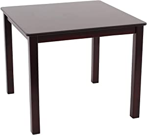 Max & Lily Natural Wood Kid and Toddler Square Table, Espresso