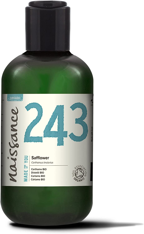 Naissance Aceite Vegetal de Cártamo BIO 250ml - 100% puro, prensado en frío, certificado ecológico, vegano y no OGM