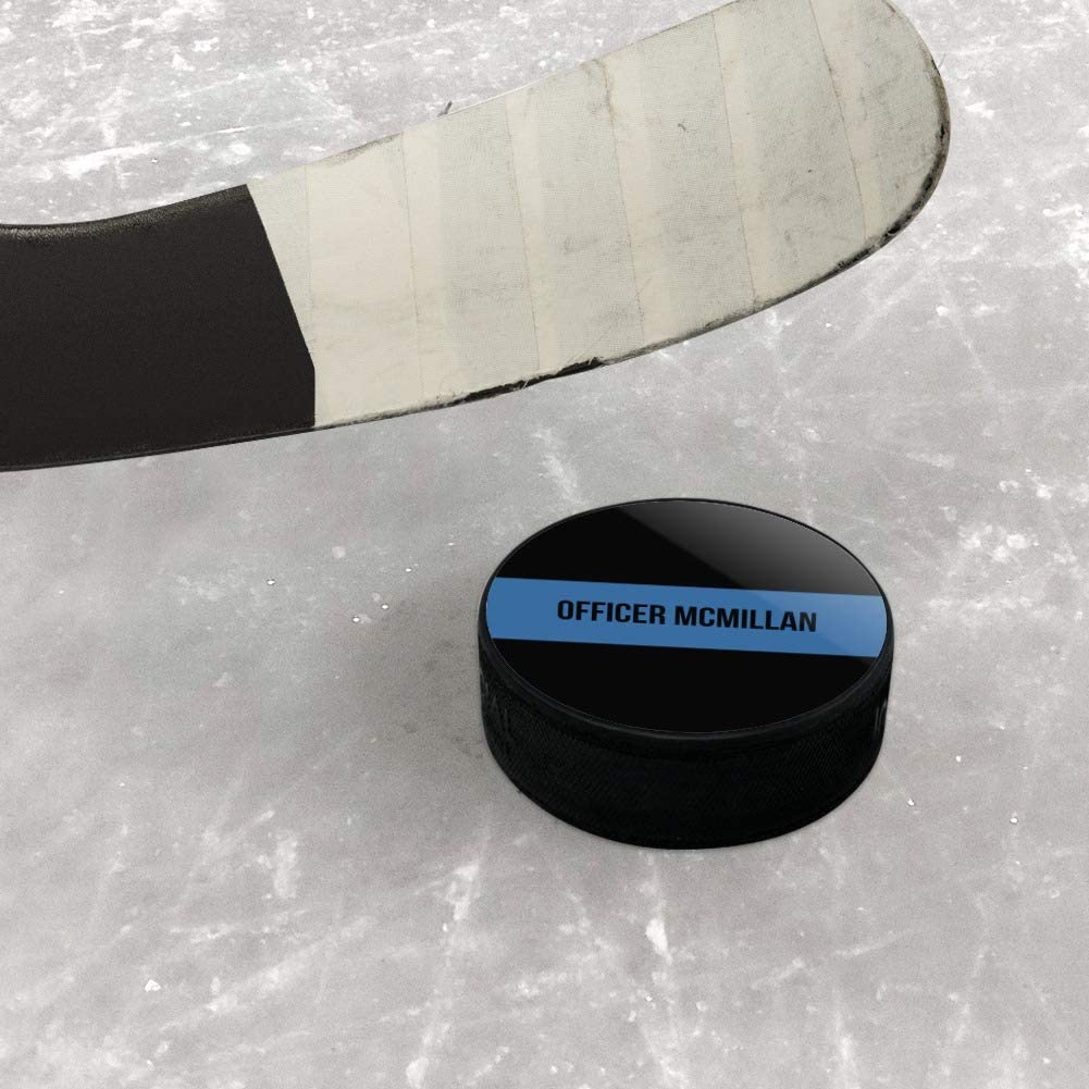 GRAPHICS /& MORE Personalized Custom 1 Line Police Thin Blue Line Ice Hockey Puck