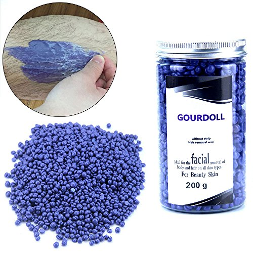 MLMSY Solid Depilatory Grain Body Hair Remover Hard Wax Beans Depilatory Pearl Hard Wax Granule Hot Film Wax Bean Stripless Depilatory Wax Bead(Lavender Flavor 200g)