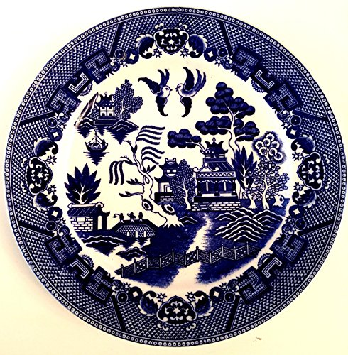 - Vintage Antique Blue Willow Japan Plate