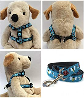 "product image for Diva-Dog 'Lady Bugs & Bumble Bees' Custom 5/8"" Wide Dog Step-in Harness with Plain or Engraved Buckle, Matching Leash Available - Teacup, XS/S"
