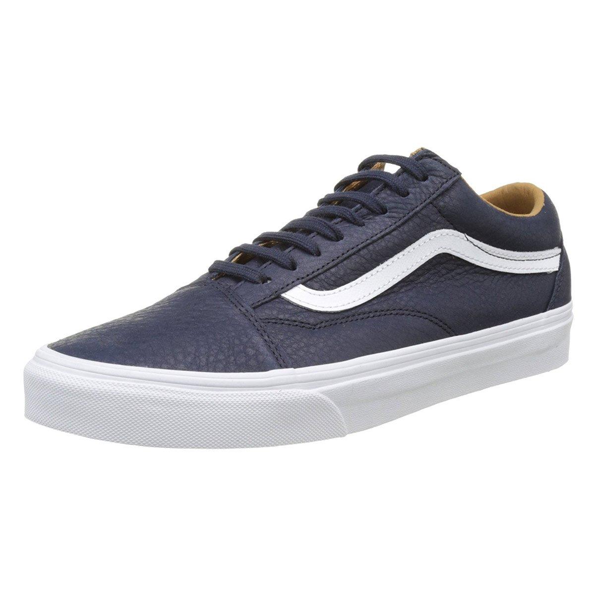Vans Unisex-Erwachsene Old Skool Leder Parisia Sneaker, Schwarz (Premium Leder) Parisia Leder 4e92a6