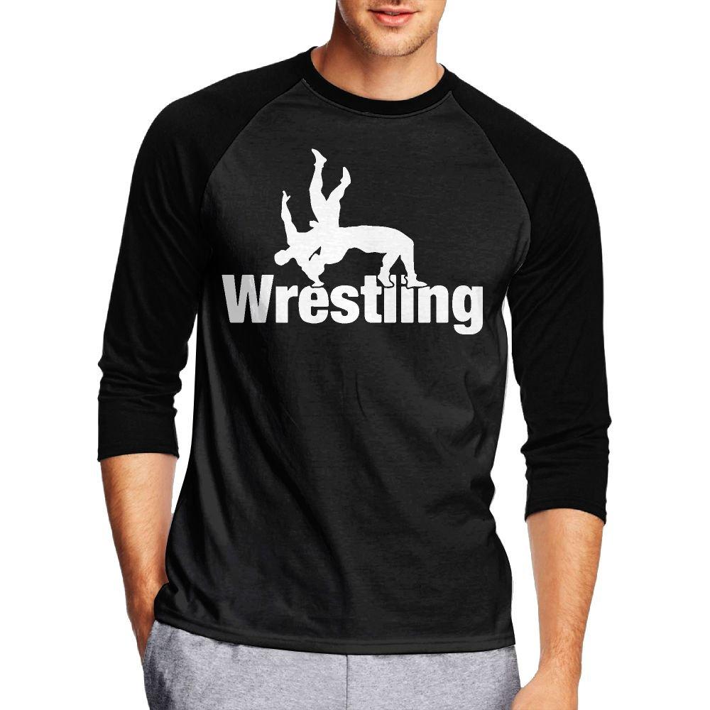 Wrestling Clipart-1 Men's Casual Half Sleeve Printed T-Shirt - Raglan Jersey Shirt by ZYJW&LMHK
