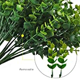 Artificial Shrubs, Hogado 4pcs Fake Plastic