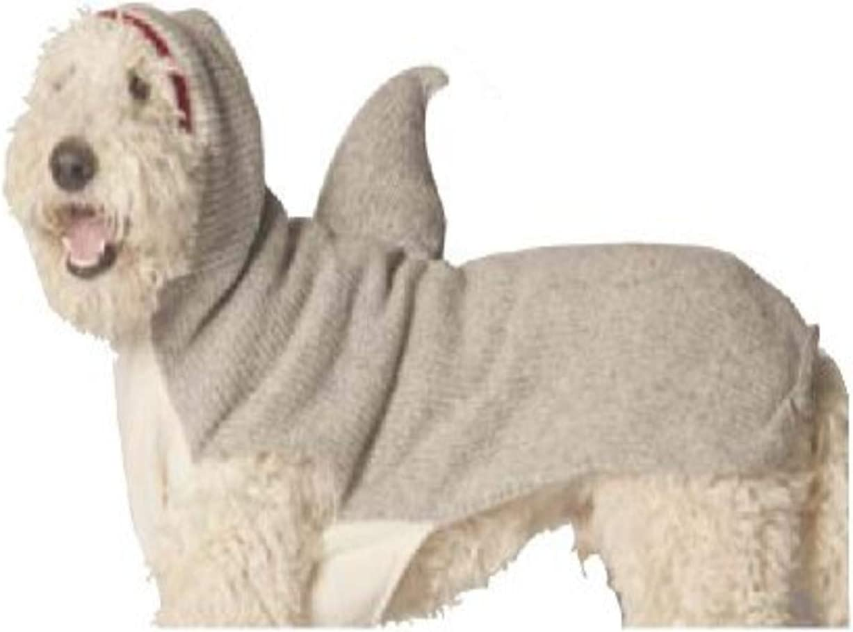 Chilly Dog Shark Hoodie Dog Sweater Large