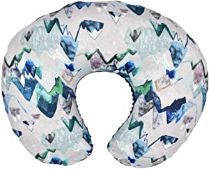 Starwak Nursing Pillow Cover Breastfeeding Pillow Slipcover Floral Cotton Blend, Soft Snug Fit Stretchy Fitted Positioners Covers for Nursing Mom's Unisex Infants Boys Girls (Blue)
