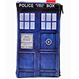 Unique Doctor Who Tardis Design Zip Case Wallet Card Coin Change Purse with Key Ring Bags Gift iphone case