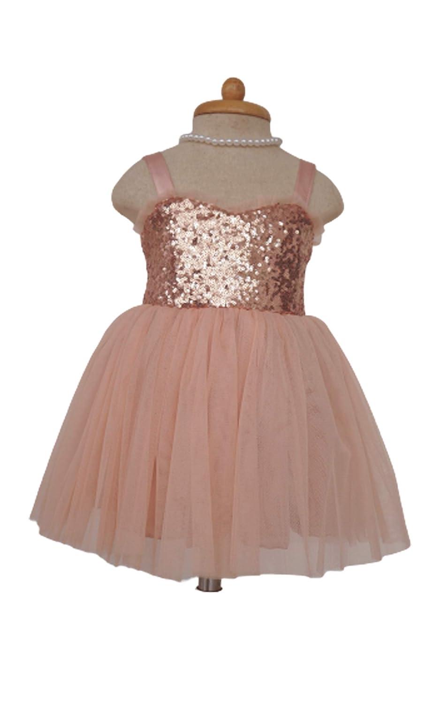 Amazon Com Blush Flower Girl Dress Rose Gold Flower Girl Dress Gold Sequin Flower Girl Dress Christmas Girl Gift Handmade