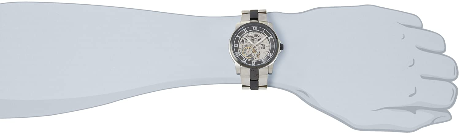 Amazon.com: Kenneth Cole New York Mens KC9041 Automatic Gun Ion-Plating Round Watch: Kenneth Cole: Watches