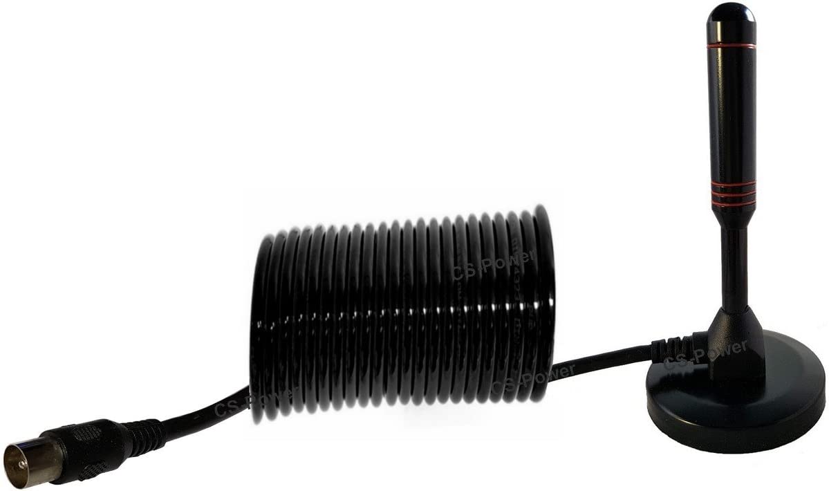 5 Meter DVB-T2 HD Antenne Receiver Leistungsstarke Stabantenne ALU-Massivkern