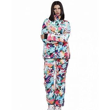 ZXGJHXF Conjunto de Traje de esquí para Mujer Chaqueta de ...