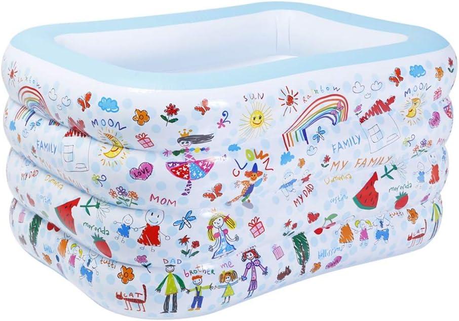 GYL - Piscina Familiar Hinchable, fácil de Plegar y Guardar, Piscina de PVC para bebés, Gran Piscina de Lona, bañera aislada para niños, 2 Colores, 140 x 110 x 75 cm: Amazon.es: Hogar