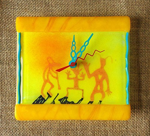 Ghost Dancers Fused Glass Wall Clock
