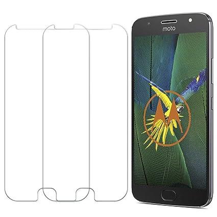 [2 Unidades] Protector de Pantalla Moto G5S, Senisttech 9H Dureza Cristal Vidrio Templado Para Moto G5S, 0.33mm Ultra Transparencia HD, 3D Touch ...
