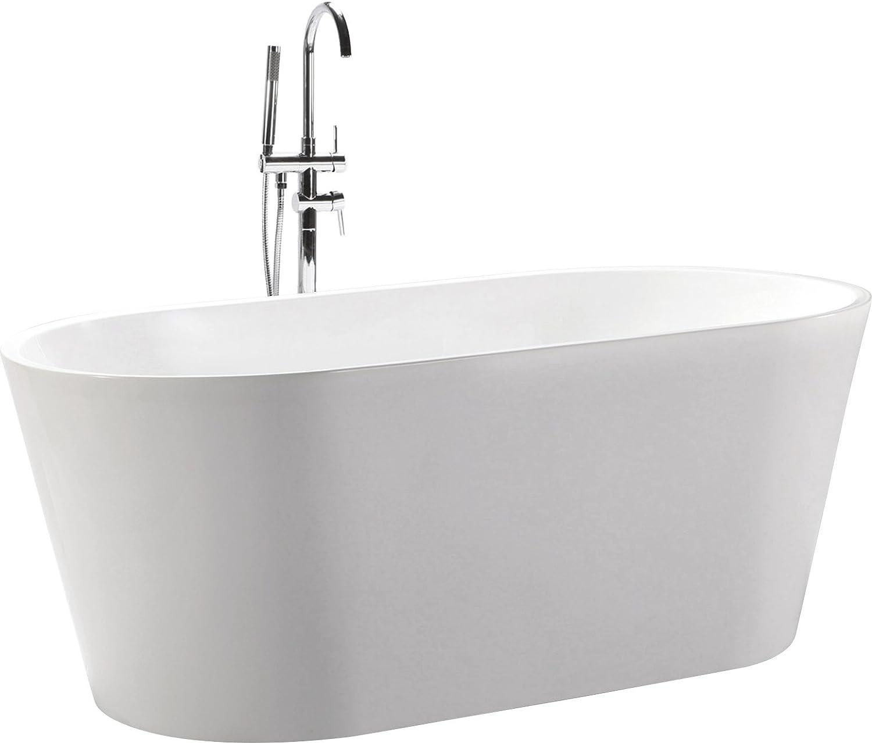 Kardiel HB-BT-AGORA-59 Agora Freestanding Acrylic Soaking Bathtub, 59 , White