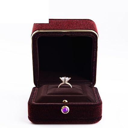 [caja del anillo de compromiso de la felpa]/Forrado de metal cajas de