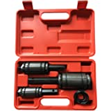 SUNROAD 3PCS Car Exhaust Muffler Tail Pipe Expander Spreader Tool Set with Case1-1/8 to 3-1/4' Red Or Blue