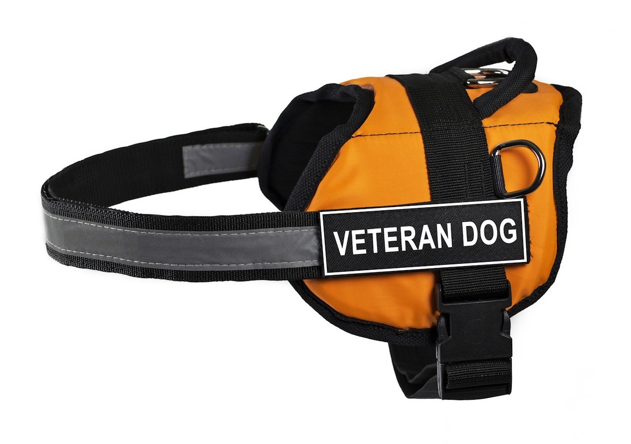 Dean & Tyler 21 to 26-Inch Veteran Dog Works Harness, X-Small, orange Black