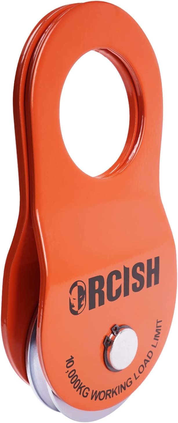 ORCISH 10T Recovery Winch Snatch Pulley Block 22000lb Capacity red