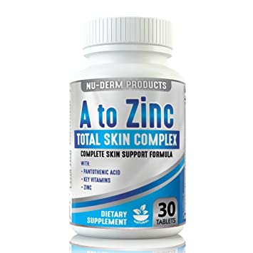 Amazon Com A To Zinc Acne Vitamins Best Acne Pills Blackhead