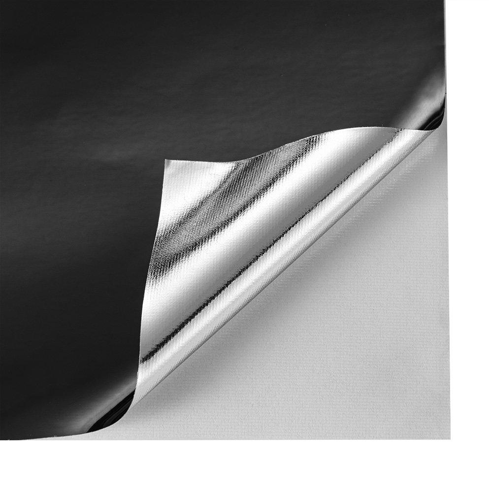 ATMOMO Black Chrome Mirror Vinyl Wrap Self Adhesive Film Decal Air Release Bubble and Air-Free 1.52Mx75CM