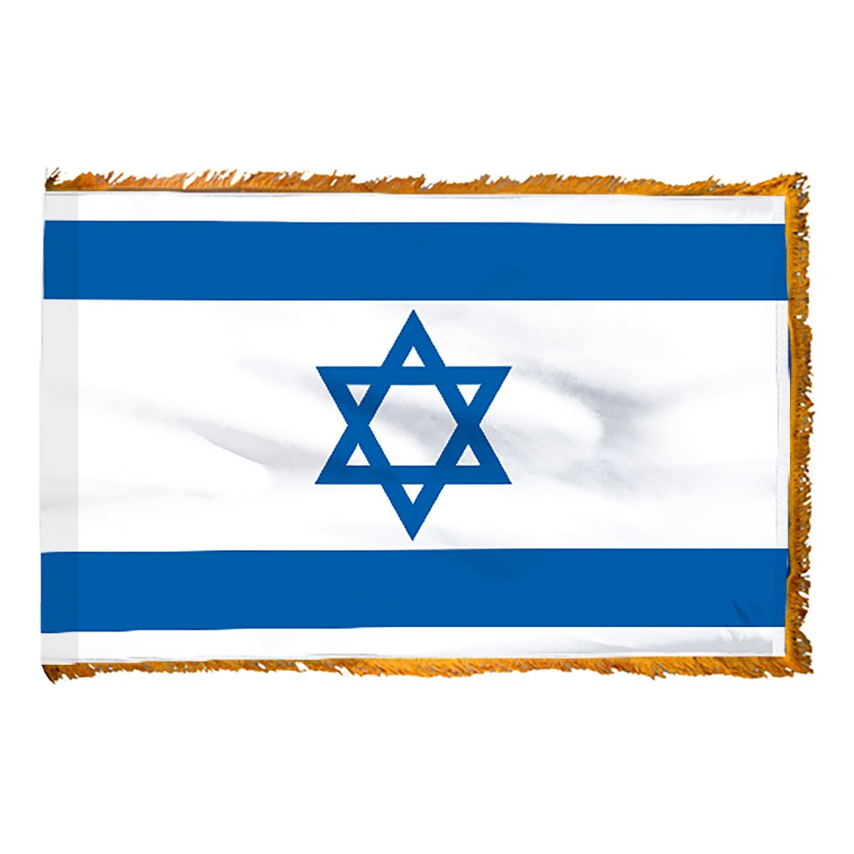 Israel 3ft x 5ft Flag, Flagpole, Base, and Tassel ( 7 Ft Oak Pole, Star of David) by Online Stores (Image #3)