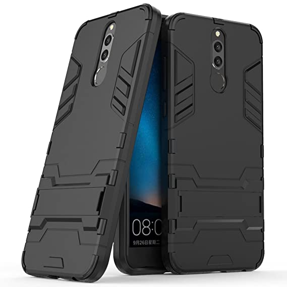 brand new 25cfb 5b0a8 Huawei Mate 10 Lite Case, Huawei Mate 10 Lite Hybrid Case, Dual Layer  Shockproof Hybrid Rugged Case Hard Shell Cover with Kickstand for 5.9''  Huawei ...