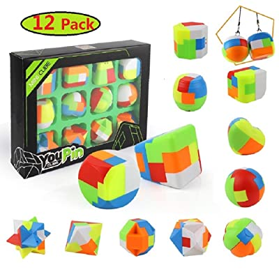 12 Pack Puzzle Balls-Fidget Brain Teaser Puzzles-Party Favors Toys for Kids-Treasure Box Prize,Goody Bag Fillers,Carnival Prizes,Pinata Filler,Classroom Rewards Prizes: Toys & Games