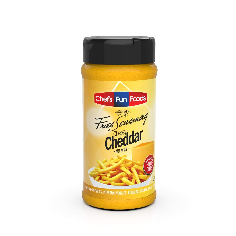 Gourmet Fries Seasonings Bottle, Cheesy Cheddar, 9 Ounce